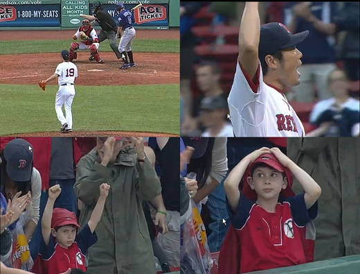 koji uehara first save in Boston 4 frames520.jpg